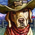 Cowboy Lab - Yellow by Kathleen Harte Gilsenan