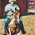 Cowboy On Paint by Alice Gipson