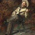 Cowboy Singing by Thomas Eakins