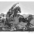 Cowboys And Longhorns by Jack Pumphrey
