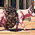 Cow Parade N Y C 2000 - Prima Cowlerina by Allen Beatty