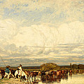 Cows Crossing A Ford by Jules Dupre