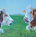 Cows Lying Down Chatting by Mike Jory
