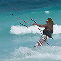 Cozumel Kiting by Carol McCutcheon