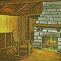 Cozy Fireplace At Lake Hope Ohio by Frank Hunter