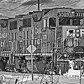 Cp Rail Train Bwtr9099-12 by Randy Harris