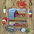 Crab Shack Collage by Paul Brent
