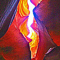 Crack Between Two Worlds In Lower Antelope Canyon In Lake Powell Navajo Tribal Park-arizona by Ruth Hager