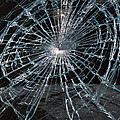 Cracked Glass Of Car Windshield by Anonymous