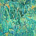 Cracks In Blue by Meghan at FireBonnet Art