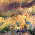 Cranes In The Grain by Alaskan Raven Studio