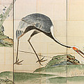 Cranes Pines And Bamboo by Ogata Korin