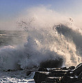 Crashing Surf by Marty Saccone