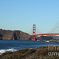 Crashing Waves and the Golden Gate Bridge by Linda Woods