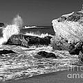 Crashing Waves Bw by Timothy Hacker