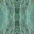 Crashing Waves Of Green 1 - Panorama - Abstract - Fractal Art by Andee Design