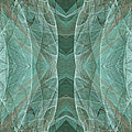 Crashing Waves Of Green 4 - Square - Abstract - Fractal Art by Andee Design