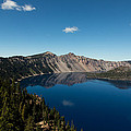 Crater Lake And Boat by John Daly