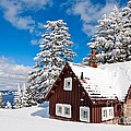 Crater Lake Home - Crater Lake Covered In Snow In The Winter. by Jamie Pham