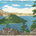 Crater Lake Postcard by Charles Robinson