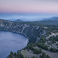 Crater Lake Sunset by Melany Sarafis