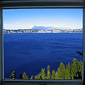 Crater Lake Through Our Window by Robert Woodward