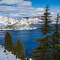 Crater Lake Winter Panorama by Inge Johnsson