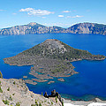 Crater Lake Wizard Island by Debra Thompson