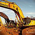 Crawler Excavator - Komatsu - Digger - Machinery by Barbara Griffin