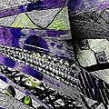 Crazy Cones Purple Greenl2 by Linda Francis