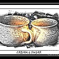 Cream And Sugar - Pottery by Barbara Griffin