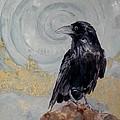 Creation - A Raven by Saundra Lane Galloway
