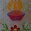 Creative Diya Rangoli by Sonali Gangane