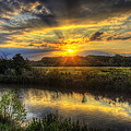 Creek Sunset by  Island Sunrise and Sunsets Pieter Jordaan