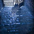 Creepy Man Standing Behind A Wrought Iron Gateway by Lee Avison