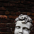 Creepy Marble Boy Garden Statue by Edward Fielding