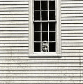 Creepy Victorian Girl Looking Out Window by Edward Fielding