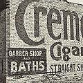 Cremo Cigar In Black And White by Cathy Anderson