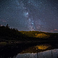 Crescent Lake Midnight by Jakub Sisak