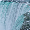 Crest Of Horseshoe Falls In Winter by Ray Sheley