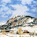 Crested Butte Mountain by Barbara Jewell