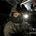 Crew Chief In A Uh-60 Black Hawk by Terry Moore