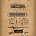 Cribbage Board 1885 Patent Art Brown by Prior Art Design
