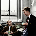 Crick & Watson In 1953 by Photograph By A. Barrington Brown, Copyright Gonville And Caius College, Cambridge. Coloured By Science Photo Library