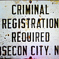 Criminal Registration Required Absecon City Nj by Bill Cannon