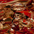 Crimson And Gray Glass Macro Ws2 by David Patterson
