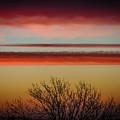 Crimson Clouds At Sunrise by James Truett