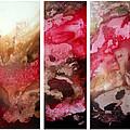 Crimson Cream Original Painting Madart by Megan Duncanson