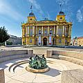 Croatian Nationa Theater In Zagreb by Brch Photography