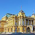 Croatian National Theater In Zagreb by Borislav Marinic